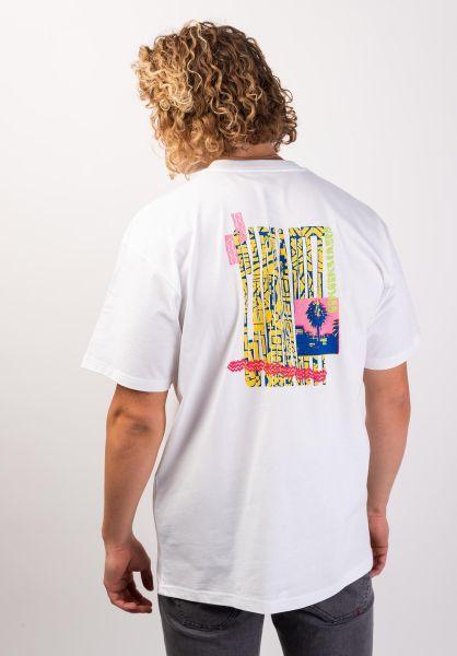 Carhartt WIP T-Shirts Burning Palm Beach white vorderansicht 0320067