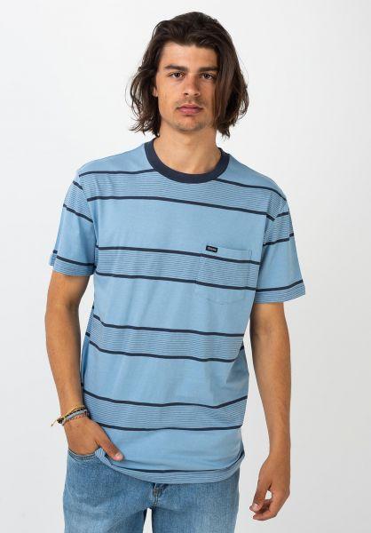 Brixton T-Shirts Hilt Pocket casablancablue-washednavy vorderansicht 0399858