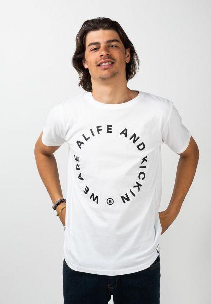 alife and kickin T-Shirts Logo white 120 vorderansicht 0371807