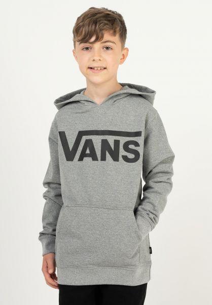 Vans Hoodies Classic Kids greyheather vorderansicht 0442729