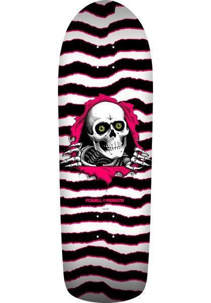 Powell-Peralta Skateboard Decks Oldschool Ripper white-pink vorderansicht 0101516