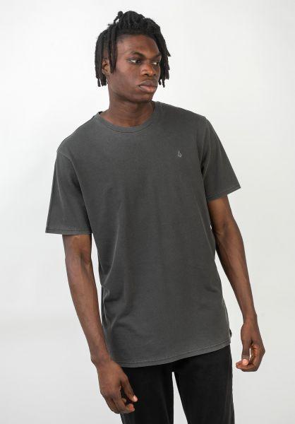 Volcom T-Shirts Solid Stone Emb black vorderansicht 0320386