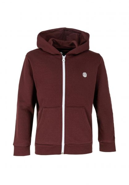 Element Zip-Hoodies Cornell Kids vintagered vorderansicht 0445994