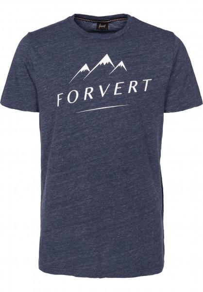 Forvert T-Shirts Nils navymelange Vorderansicht