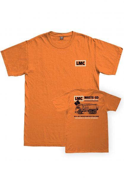 Loser-Machine T-Shirts Waste-Ed orange vorderansicht 0383247