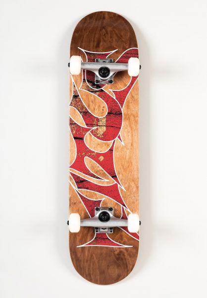 TITUS Skateboard komplett Stained Schranz brown-stained vorderansicht 0162134