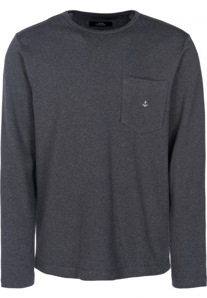Makia Longsleeves Vasa Pocket darkgrey vorderansicht 0383071