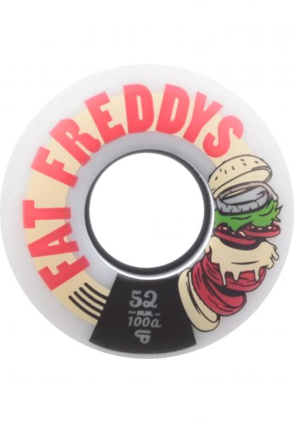 TITUS Rollen Fat Freddys Slim Core 100A white-red Vorderansicht