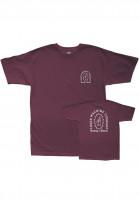 Loser-Machine-T-Shirts-Catacomb-burgundy-Vorderansicht