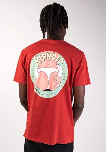 Rip N Dip T-Shirts Dumpy redmineralwash vorderansicht 0399953
