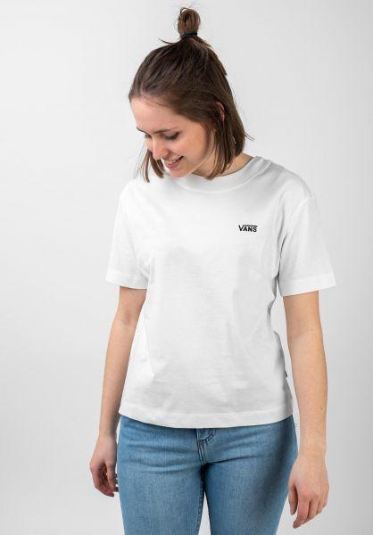 Vans T-Shirts Junior V Boxy white vorderansicht 0321460