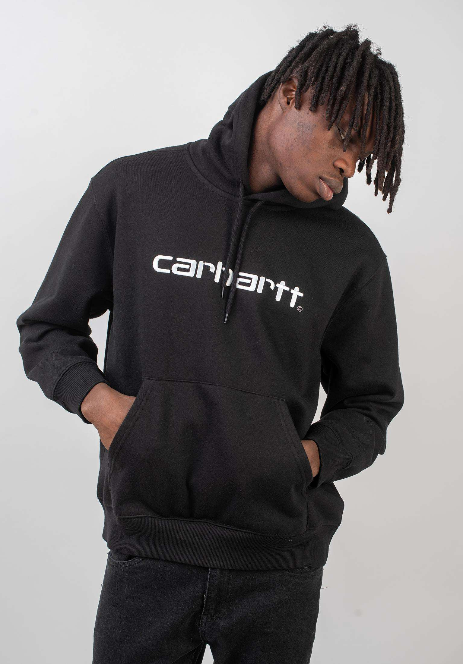 8c6fc8e2de3 Hooded Carhartt Sweatshirt Carhartt WIP Hoodies in black-white for Men |  Titus