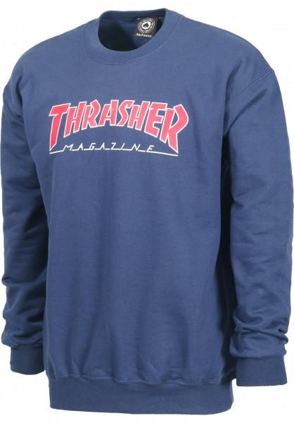 Thrasher Sweatshirts und Pullover Outlined navy Vorderansicht