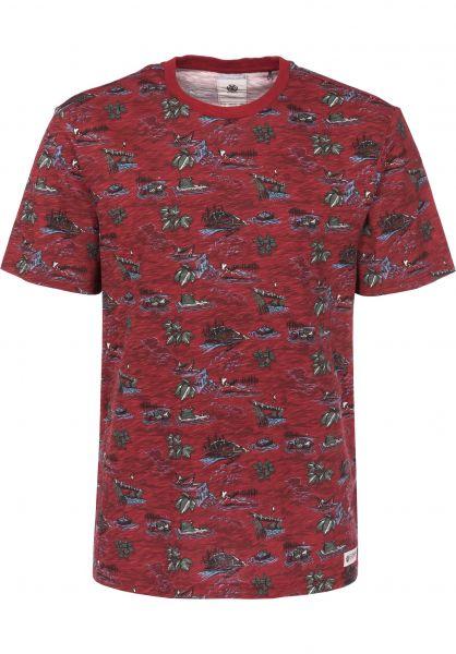 Element T-Shirts Brice reddahlia Vorderansicht