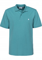 Carhartt WIP Polo-Shirts Madison softteal-white Vorderansicht