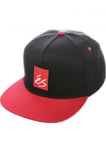 ES Caps Main Block black-red vorderansicht 0566549