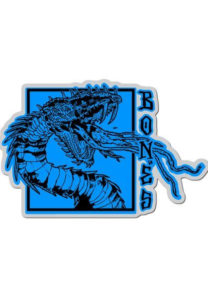 """Bones Wheels Verschiedenes Time Beasts Snake 4"""" Sticker blue vorderansicht 0972290"""