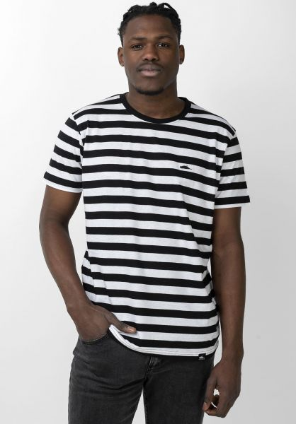 Atticus T-Shirts Frame Stripe black-white vorderansicht 0321486