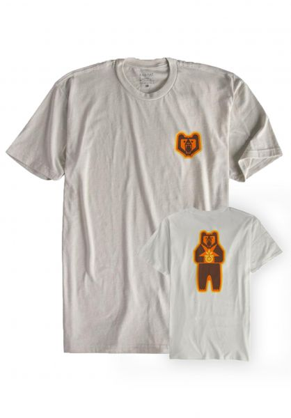 Habitat T-Shirts Grizzly Logo natural vorderansicht 0320581