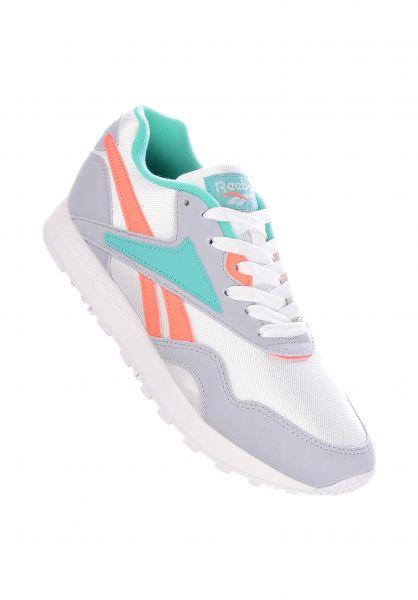 Reebok Alle Schuhe Rapide SYN white-cloudgrey-emeraldsea-stelpink vorderansicht 0612494