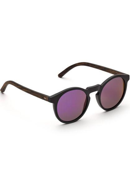 TAS Take a Shot Sonnenbrillen Nepomuk walnut-darkpurplemirrored-blackmatt vorderansicht 0590576