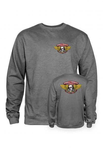Powell-Peralta Sweatshirts und Pullover Winged Ripper gunmetal-heather vorderansicht 0422759