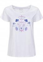Rules-T-Shirts-Blume-white-Vorderansicht