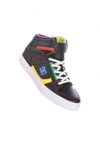 DC Shoes Alle Schuhe Pure High EV Kids black-multi vorderansicht 0216078