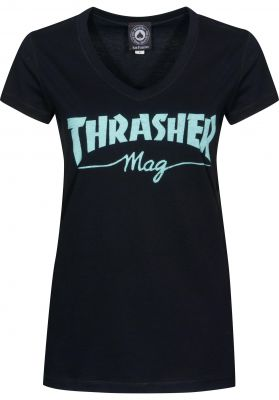 Thrasher Mag Logo Girls V-Neck