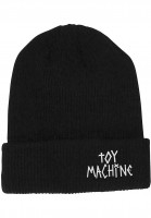 Toy-Machine-Muetzen-Tape-Logo-black-Vorderansicht