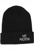 Toy-Machine Mützen Tape Logo black Vorderansicht