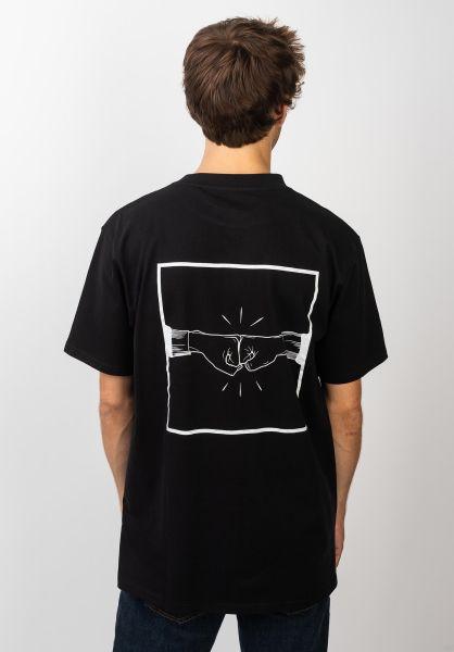 TITUS T-Shirts Emin-Backprint black vorderansicht 0399255