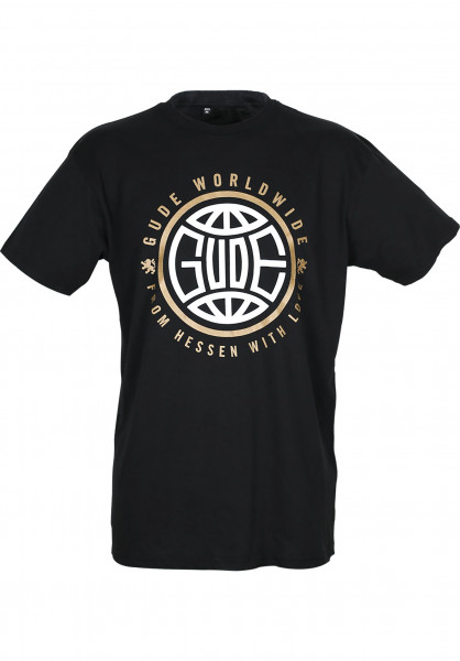 GUDE T-Shirts Worldwide black Vorderansicht
