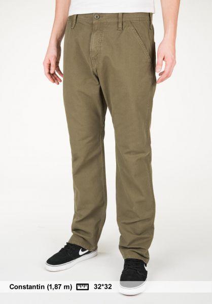 Carhartt WIP Jeans Chalk Pant (Newcomb) rovergreen Vorderansicht