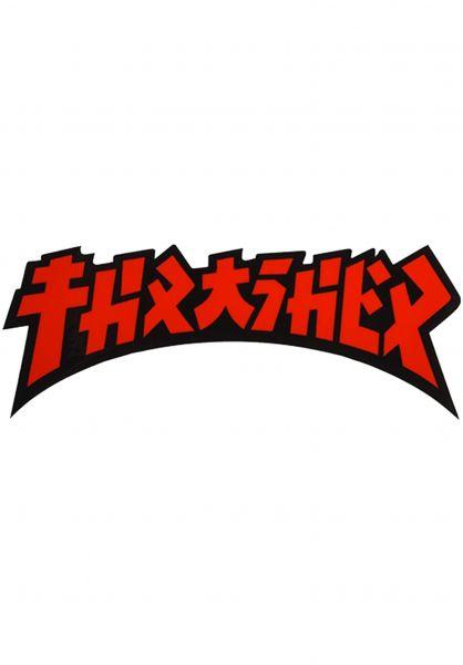 Thrasher Verschiedenes Godzilla Die Cut Sticker black-red vorderansicht 0972526