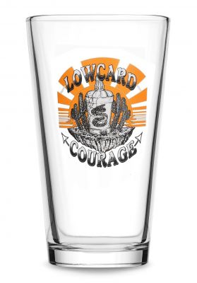 Lowcard Pint Glass Courage