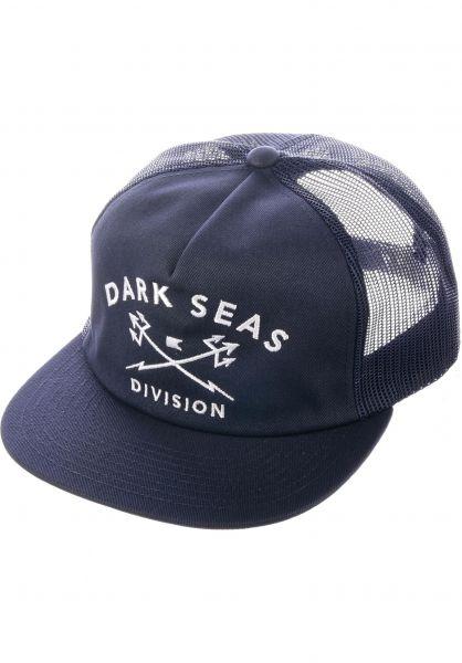 Dark Seas Caps Tridents Trucker navy Vorderansicht