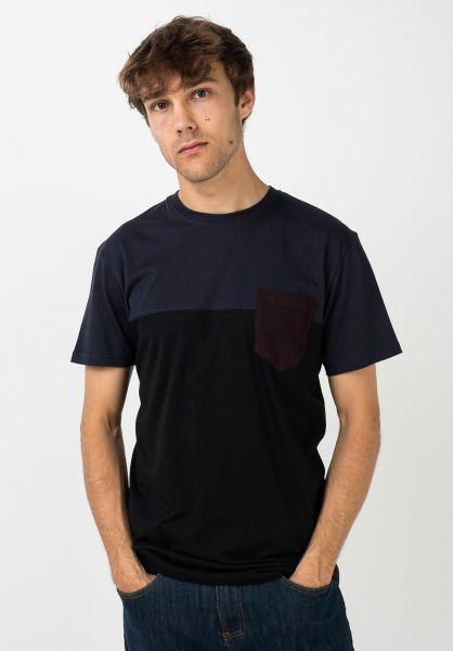 iriedaily T-Shirts Block Pocket nightfall vorderansicht 0394022