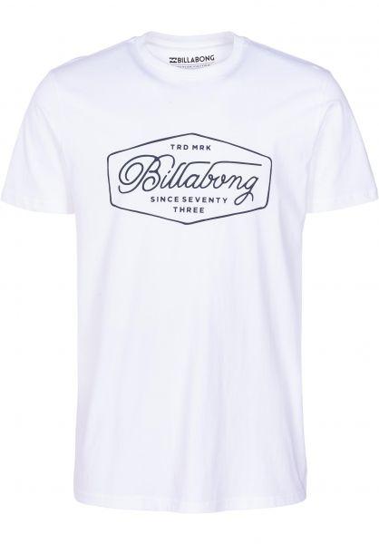 Billabong T-Shirts Trademark white vorderansicht 0399907