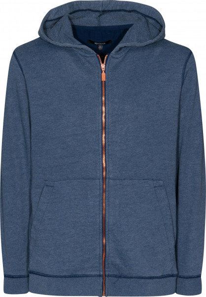 Makia Zip-Hoodies Flag Zip Up blue Vorderansicht