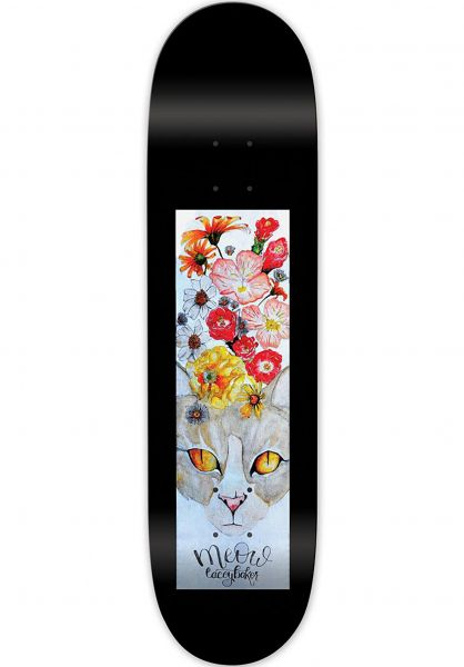 Meow Skateboards Skateboard Decks Baker Cat´s Crown black-multicolored vorderansicht 0261803