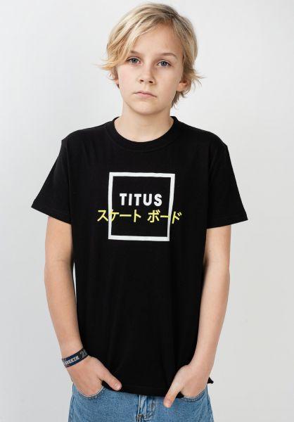 TITUS T-Shirts Samuel Kids black vorderansicht 0320800