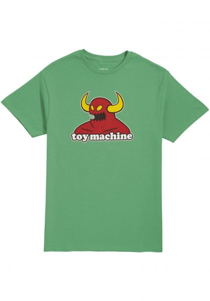 Toy-Machine T-Shirts Monster grassgreen vorderansicht 0360310