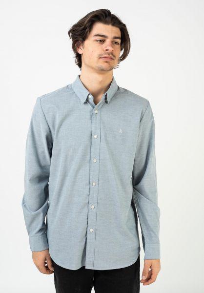 Volcom Hemden langarm Oxford Stretch rinconblue vorderansicht 0411824