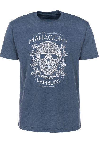 Mahagony T-Shirts Dia blue Vorderansicht