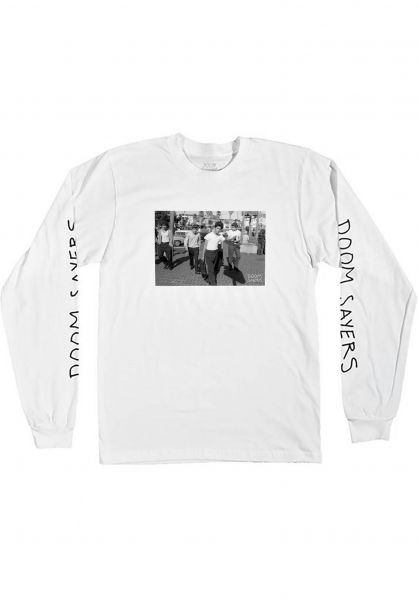 Doomsayers Longsleeves The Approach white Vorderansicht