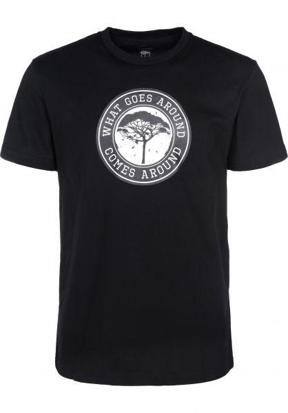 Mahagony T-Shirts Karma black Vorderansicht