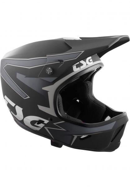 TSG Fullface-Helme Advance Graphic Design streak black-grey vorderansicht 0257001
