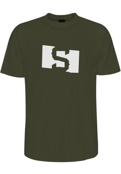 State T-Shirts S Flag olivegreen vorderansicht 0383334