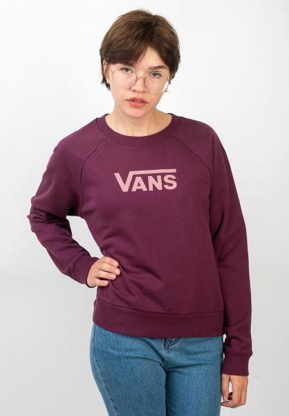Vans Sweatshirts und Pullover Flying V Boxy Fit prune vorderansicht 0422748